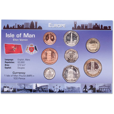 Image for Isle of Man Coin Set in Custom Holder from Littleton Coin Company