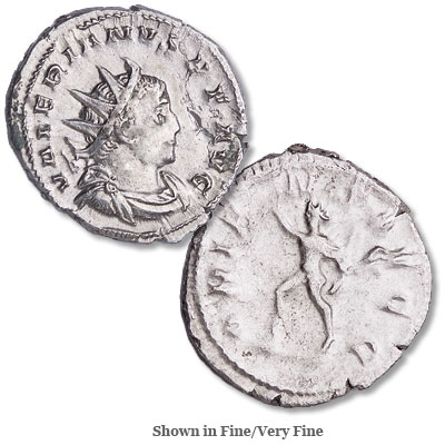 Image for A.D. 253-260 Valerian I Silver Antoninianus from Littleton Coin Company