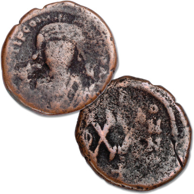 Image for A.D. 578-582 Tiberius II from Littleton Coin Company