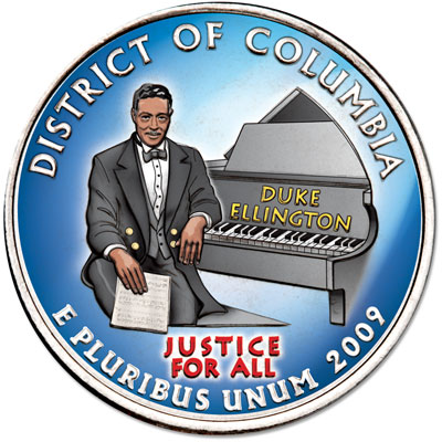 Image for 2009 Colorized D.C. Territories Quarter from Littleton Coin Company