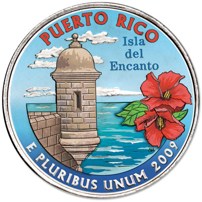 Image for 2009 Colorized Puerto Rico Territories Quarter from Littleton Coin Company