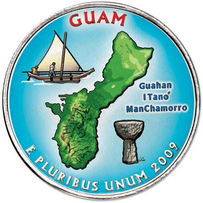 Image for 2009 Colorized Guam Territories Quarter from Littleton Coin Company