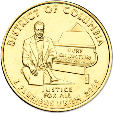 Image for 2009 Gold-Plated D.C. Territories Quarter from Littleton Coin Company