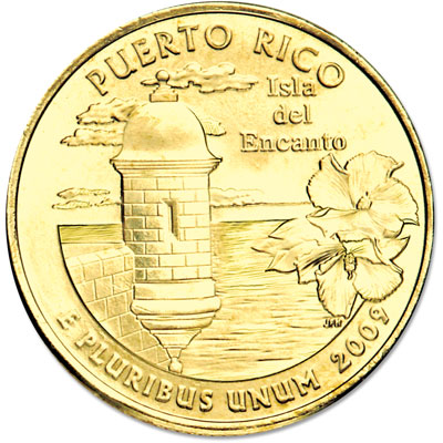 Image for 2009 Gold-Plated Puerto Rico Territories Quarter from Littleton Coin Company