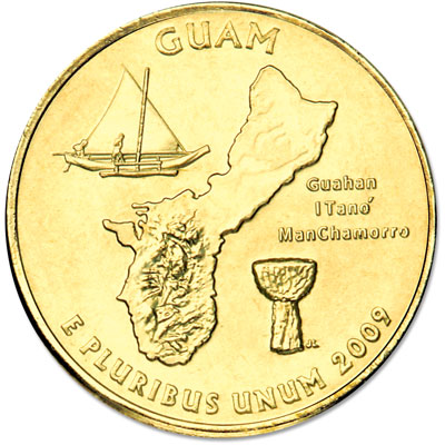 Image for 2009 Gold-Plated Guam Territories Quarter from Littleton Coin Company