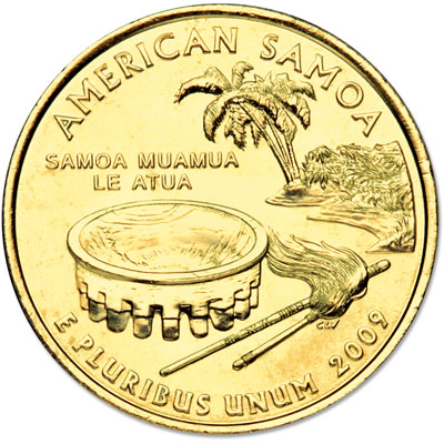 Image for 2009 Gold-Plated American Samoa Territories Quarter from Littleton Coin Company