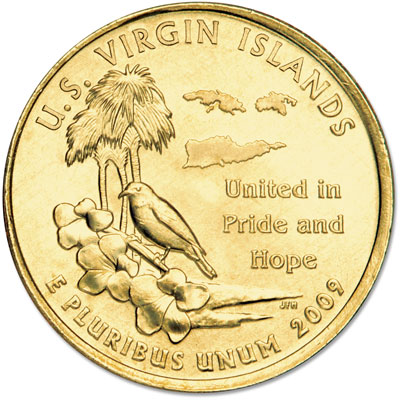 Image for 2009 Gold-Plated U.S. Virgin Islands Territories Quarter from Littleton Coin Company