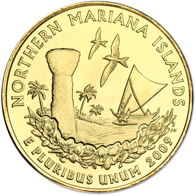 Image for 2009 Gold-Plated Northern Mariana Islands Territories Quarter from Littleton Coin Company