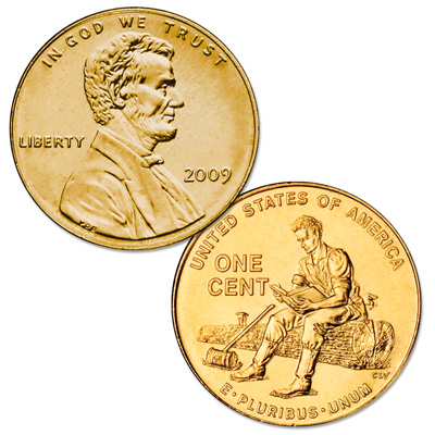 Image for 2009 Gold-Plated Lincoln Formative Years Cent from Littleton Coin Company