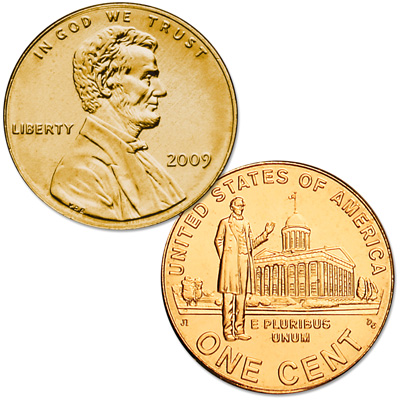 Image for 2009 Gold-Plated Lincoln Professional Life Cent from Littleton Coin Company