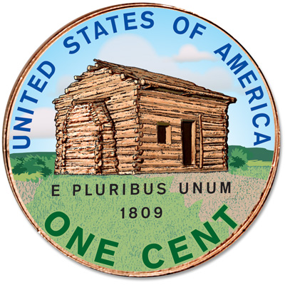 Image for 2009 Colorized Reverse Lincoln Birthplace Cent from Littleton Coin Company