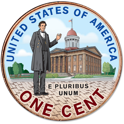 Image for 2009 Colorized Reverse Lincoln Professional Life Cent from Littleton Coin Company