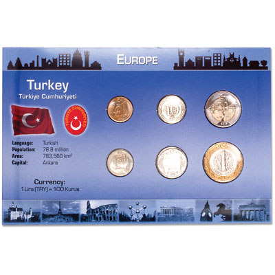 Image for Turkey Coin Set in Custom Holder from Littleton Coin Company