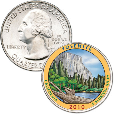 Image for 2010 Colorized Yosemite National Park Quarter from Littleton Coin Company