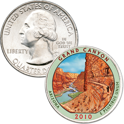 Image for 2010 Colorized Grand Canyon National Park Quarter from Littleton Coin Company