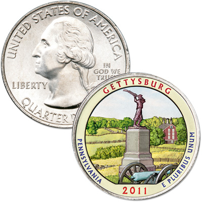 Image for 2011 Colorized Gettysburg National Park Quarter from Littleton Coin Company