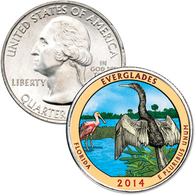 Image for 2014 Colorized Everglades National Park Quarter from Littleton Coin Company