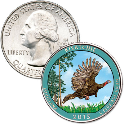 Image for 2015 Colorized Kisatchie National Forest Quarter from Littleton Coin Company