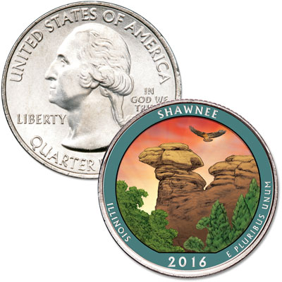 Image for 2016 Colorized Shawnee National Forest Quarter from Littleton Coin Company