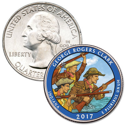 Image for 2017 Colorized George Rogers Clark National Historical Park Quarter from Littleton Coin Company