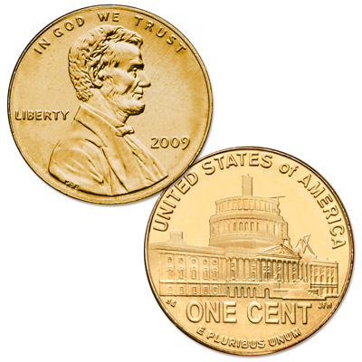 Image for 2009 Gold-Plated Lincoln Presidency Cent from Littleton Coin Company