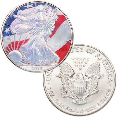 Image for 2013 Colorized & Hologram Silver American Eagle from Littleton Coin Company
