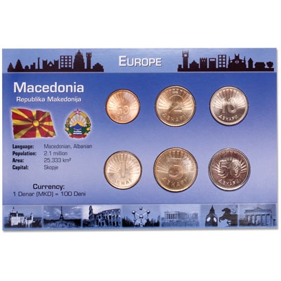 Image for Macedonia Coins in Custom Holder from Littleton Coin Company