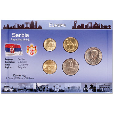 Image for Serbia Coins in Custom Holder from Littleton Coin Company