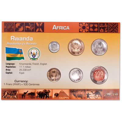 Image for Rwanda Coin Set in Custom Holder from Littleton Coin Company
