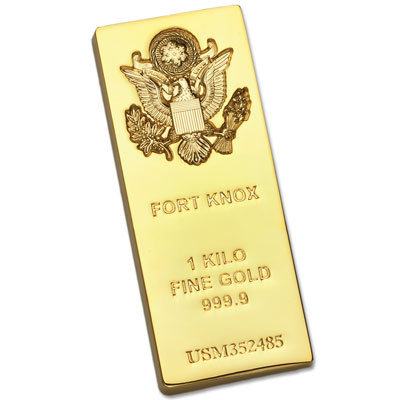 Image for Gold-Plated Fort Knox Bar Replica from Littleton Coin Company