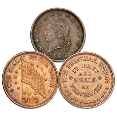Image for 1862-1864 Patriotic Civil War Token from Littleton Coin Company