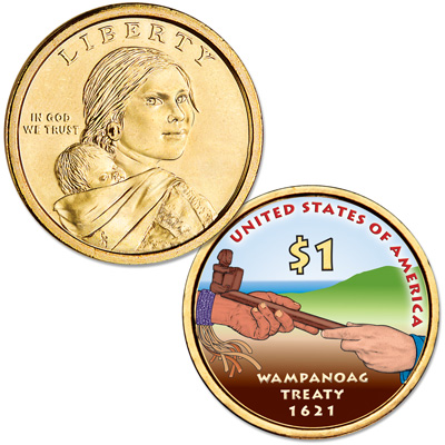 Image for 2011 Native American Dollar with Colorized Reverse from Littleton Coin Company