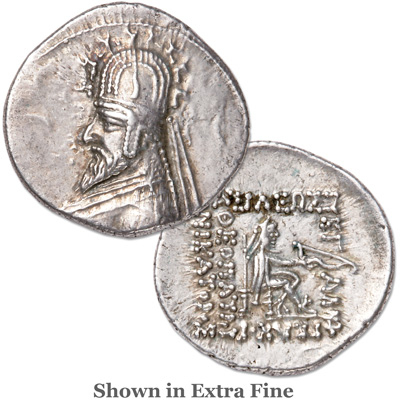 Image for 72-70 B.C. Sinatruces Silver Drachm from Littleton Coin Company