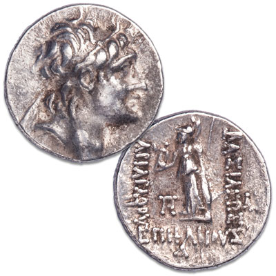Image for 130-161 B.C. Ariarathes VI Silver Drachm from Littleton Coin Company