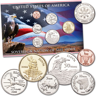 Image for 2014 Sioux Coin Set from Littleton Coin Company