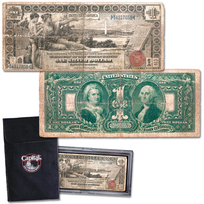 Image for 1896 Educational $1 Silver Certificate from Littleton Coin Company