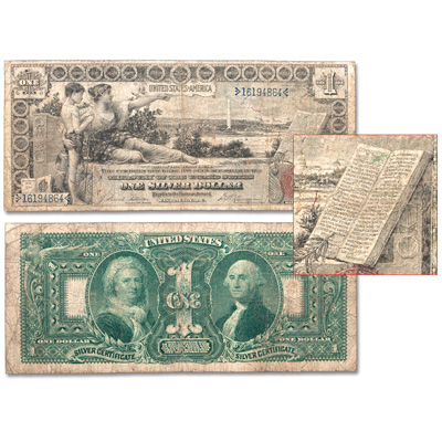 Image for 1896 $1 Silver Certificate with Holder from Littleton Coin Company