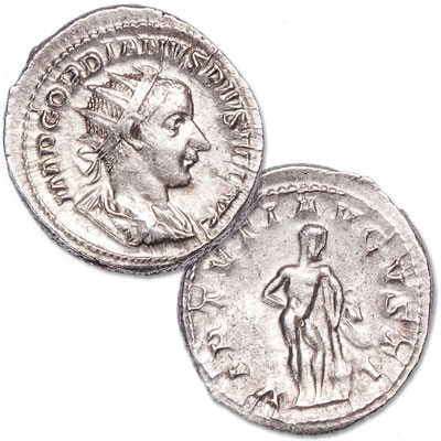 Image for A.D. 238-244 Gordian III Silver Antoninianus, Hercules Reverse from Littleton Coin Company