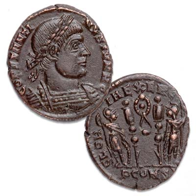 Image for A.D. 337-340 Constantine II Bronze Reduced Follis from Littleton Coin Company
