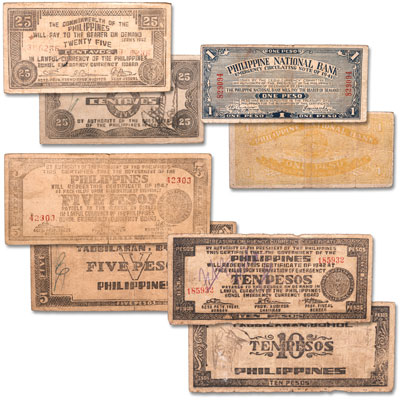 Image for 1941-1944 World War II Philippine Guerrilla Note Set from Littleton Coin Company