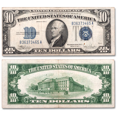 Image for 1934 $10 Silver Certificate from Littleton Coin Company