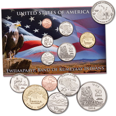 Image for 2014 Ewiiaapaayp Indian Nation Coin Set from Littleton Coin Company