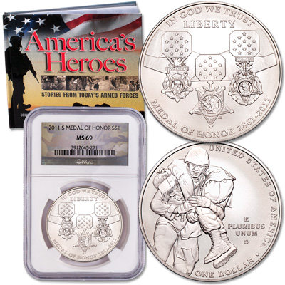 Image for 2011 Medal of Honor Silver Dollar Set from Littleton Coin Company