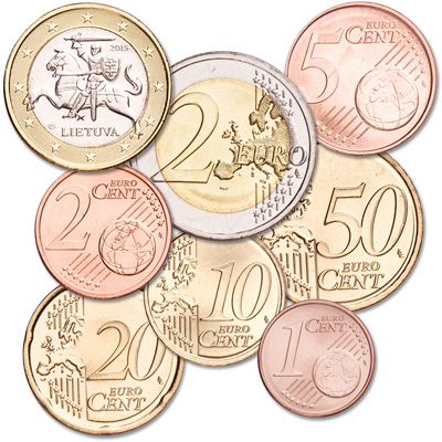 Image for 2015 Lithuania Euro Set (8 coins) from Littleton Coin Company