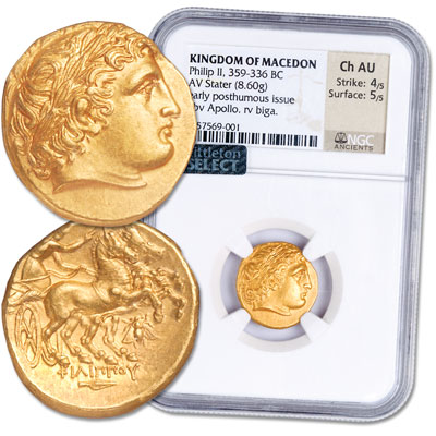 Image for 359-336 B.C. Philip II of Macedon Gold Stater from Littleton Coin Company
