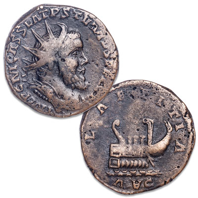 Image for A.D. 260-269 Postumus Bronze Double Sestertius from Littleton Coin Company