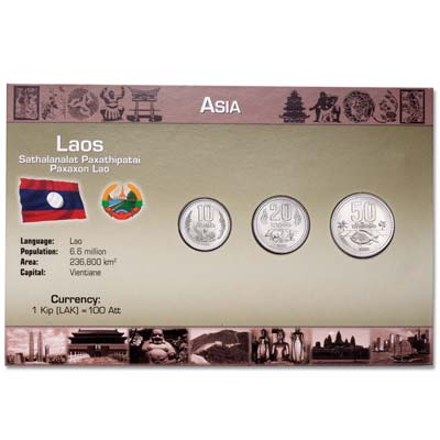 Image for Laos Coin Set in Custom Holder from Littleton Coin Company