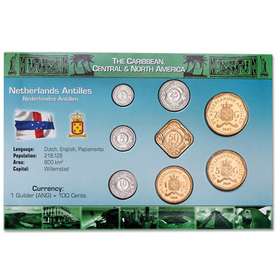Image for Netherlands Antilles Coin Set in Custom Holder from Littleton Coin Company