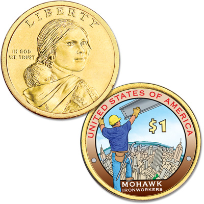 Image for 2015 Native American Dollar with Colorized Reverse from Littleton Coin Company