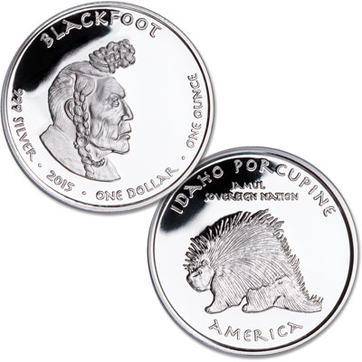 Image for 2015 Jamul Nation Idaho Blackfoot Silver Dollar from Littleton Coin Company